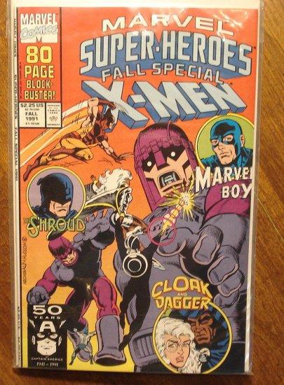 Marvel Super-Heroes 1991 Fall Special comic book, X-men, Marvel Boy, Shroud, Cloak & Dagger