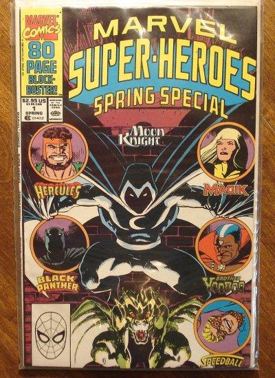 Marvel Super-Heroes 1990 Spring Special comic book, Moon Knight, Hercules, Black Panther, Magik