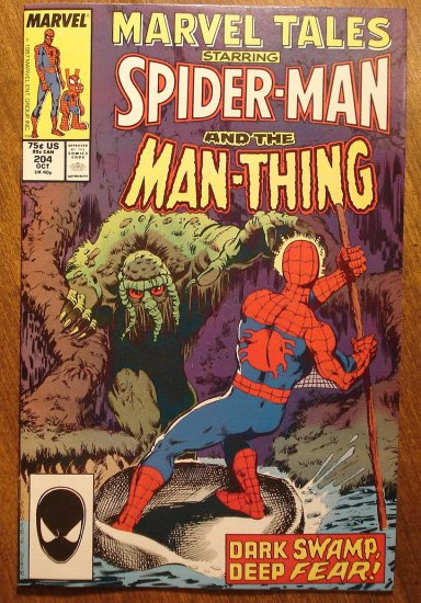 Marvel Tales #204 comic book, Spider-Man & Man-Thing