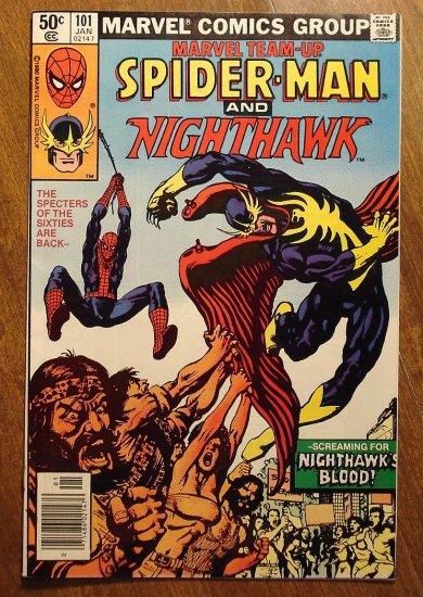 Marvel Team-Up #101 Spider-Man & Nighthawk comic book - Marvel comics