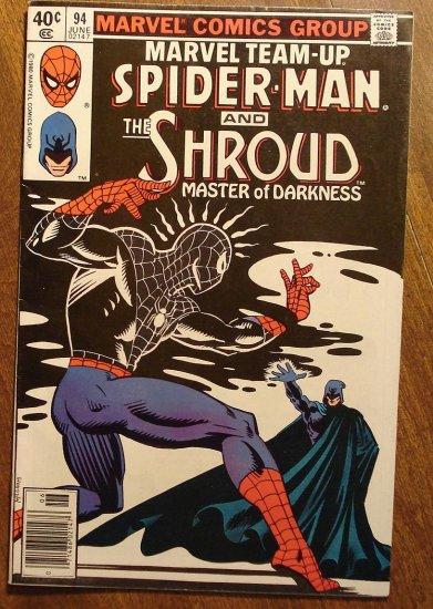 Marvel Team-Up #94 Spider-Man & The Shroud comic book - Marvel comics