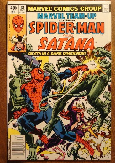 Marvel Team-Up #81 Spider-Man & Satana comic book - Marvel comics