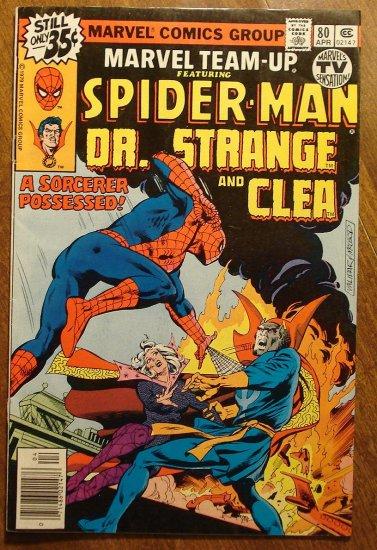 Marvel Team-Up #80 Spider-Man & Dr. Strange & Clea comic book - Marvel comics