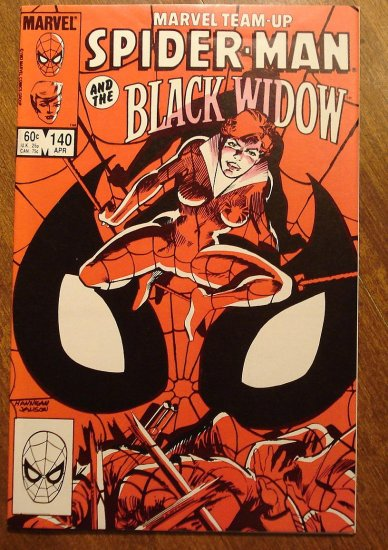 Marvel Team-Up #140 Spider-Man & The Black Widow comic book - Marvel comics