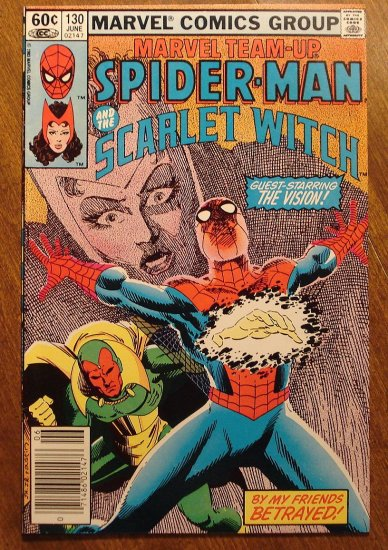 Marvel Team-Up #130 Spider-Man & The Scarlet Witch comic book - Marvel comics