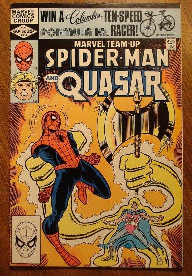 Marvel Team-Up #113 Spider-Man & Quasar comic book - Marvel comics