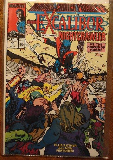 Marvel Comics Presents #35 comic book, Excalibur, Nightcrawler