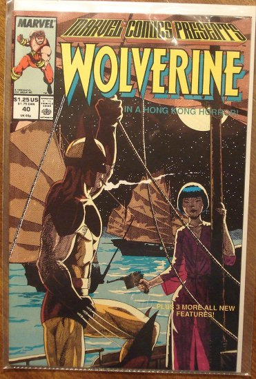 Marvel Comics Presents #40 comic book, Wolverine