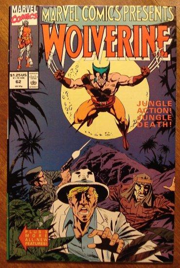 Marvel Comics Presents #62 comic book, Wolverine vs. Hulk