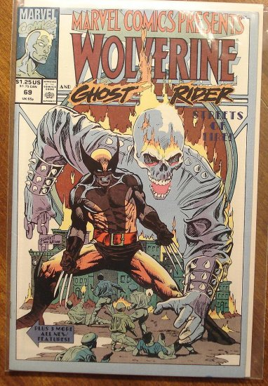 Marvel Comics Presents #69 comic book, Wolverine, Ghost Rider