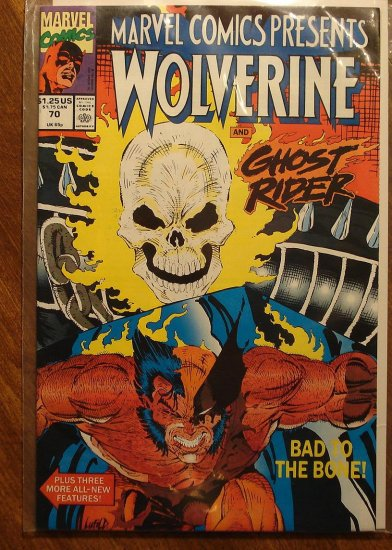 Marvel Comics Presents #70 comic book, Wolverine, Ghost Rider