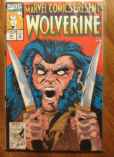 Marvel Comics Presents #93 comic book, Wolverine