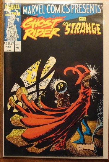 Marvel Comics Presents #102 comic book, Dr. Strange, Ghost Rider