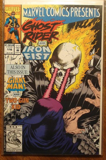 Marvel Comics Presents #116 comic book, Wolverine, Ghost Rider, Iron Fist