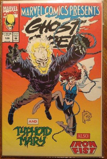 Marvel Comics Presents #126 comic book, Wolverine, Ghost Rider, She-hulk