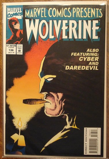 Marvel Comics Presents #136 comic book, Wolverine, Ghost Rider, Daredevil