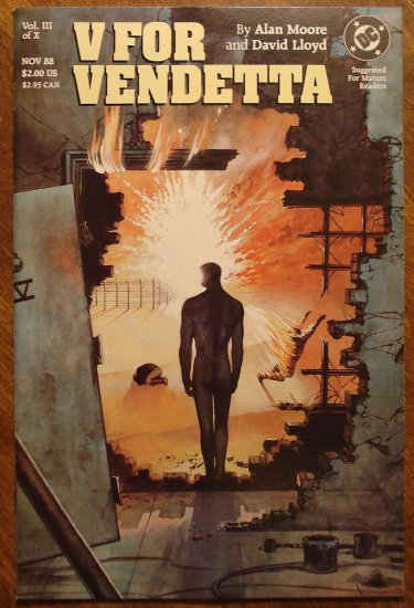 V For Vendetta #3 comic book - DCComics, Alan Moore