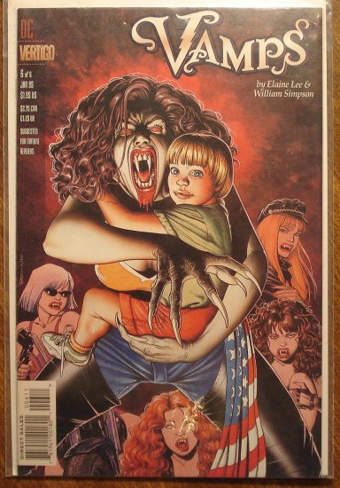 Vamps #6 comic book - DC (Vertigo) Comics, female vampires on the prowl!