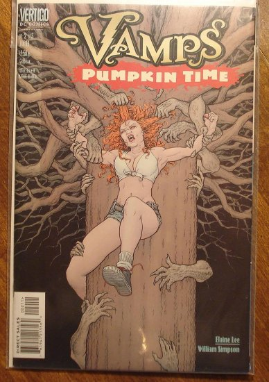 Vamps: Pumpkin Time #2 comic book - DC (Vertigo) Comics, female vampires on the prowl!