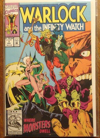Warlock & The Infinity Watch #7 comic book - Marvel comics