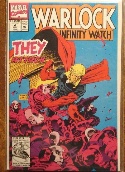 Warlock & The Infinity Watch #4 comic book - Marvel comics