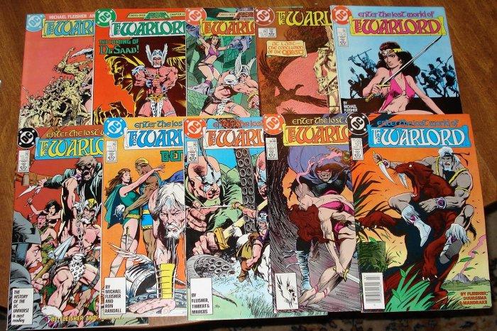 Warlord #'s 108, 114, 115, 116, 117, 118, 119, 120, 125, 127 (original series) comic book DC Comics