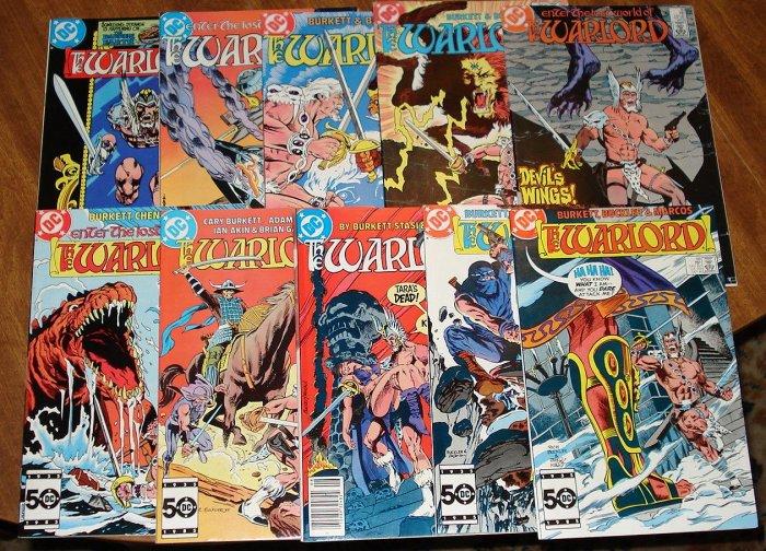 Warlord #'s 64, 85, 89, 90, 93, 94, 95, 96, 97, 98 (original series) comic book DC Comics