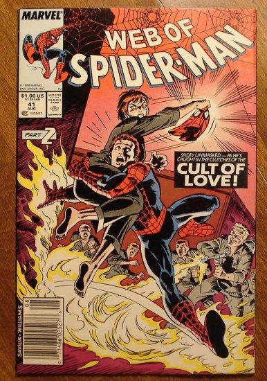 Marvel Comics - Web of Spider-Man #41 comic book, spiderman