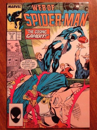 Marvel Comics - Web of Spider-Man #34 comic book, spiderman