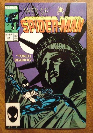 Marvel Comics - Web of Spider-Man #28 comic book, spiderman