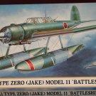 Hasegawa Aichi E13A1 Zero Model 11 WWII Japanese fighter airplane model kit MIB Unassembled 1:72