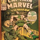Captain Marvel #3 comic book 1968, Very Fine condition, Marvel comics