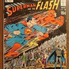 World's Finest #198 (1970) DC Comics, Superman & Flash 3rd race! Johnny Quick, Fine+ condition