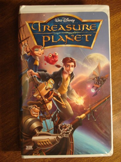 walt disney treasure planet vhs animated video tape