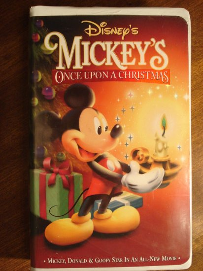 Walt Disney Mickey Mouse Once Upon A Christmas Vhs