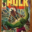 Incredible Hulk #123 (1970) comic book, Marvel Comics, VF+ condition, The Leader