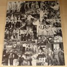 The Three (3) Stooges - collage poster, 22x28, rolled, Moe Larry Curley (Curly), has tack holes