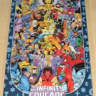Marvel comics Infinity Crusade poster, 22x34, rolled, never displayed