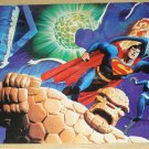 DC & Marvel comics Superman & The Fantastic Four (4) poster, 22x34 rolled never displayed Alex Ross