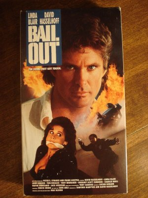 Bail Out VHS video tape movie film, David Hasselhoff, Linda