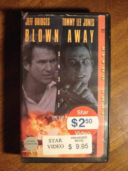 Sell Vhs Tapes >> Blown Away VHS video tape movie film, Jeff Bridges, Tommy ...