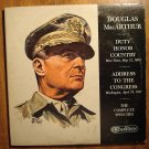 Douglas MacArthur speeches LP vinyl record album 33rpm, 2 album set fold out jacket, 1964