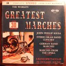 World's Greatest Marches LP vinyl record album 33rpm, 3 album set with box case, 1960's