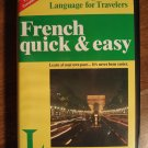 French Quick & Easy language instructional audio cassette tapes and book!