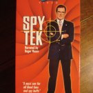 Spy Tek VHS video tape movie film, Roger Moore, 2 tape set, cameras, guns, gadgets, secret agents