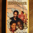 You Must Remember This VHS video tape movie film, Robert Guillaume, Tim Reid