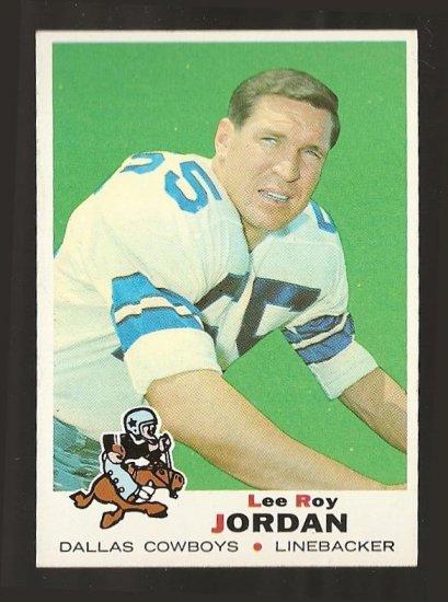 1969 Topps football card #166 Lee Roy Jordan EX Dallas Cowboys
