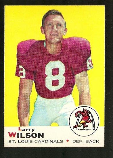 1969 Topps football card #65 (B) Larry Wilson VG/EX St. Louis Cardinals