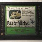 Dutch Boy White Lead Pencil glass movie film advertising slide (Magic Lantern)