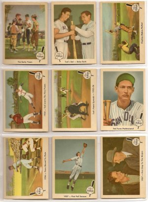 1959 Fleer Ted Williams baseball card set 1 - 80 (no #68) - NM/MINT - absolutely beautiful!